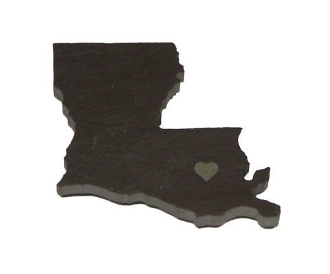 Louisiana Slate Fridge Magnet- Personalized with Laser Engraving