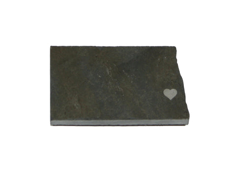 North Dakota Slate Fridge Magnet