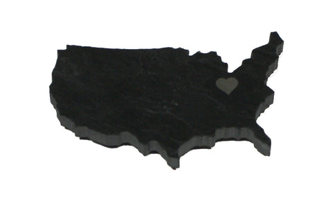 United States Black Slate Fridge Magnet