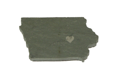 Iowa Slate Fridge Magnet- Personalized with Laser Engraving