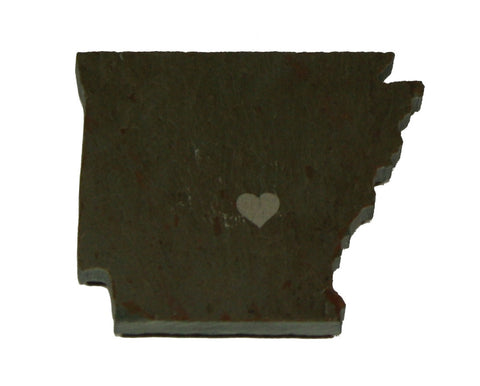 Arkansas Slate Fridge Magnet- Personalized with Laser Engraving