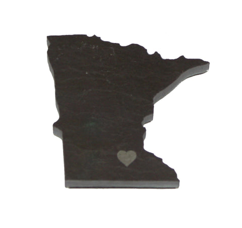 Minnesota Slate Fridge Magnet- Personalized with Laser Engraving