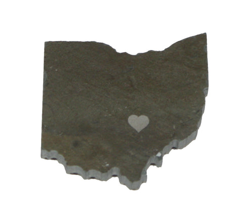 Ohio Slate Fridge Magnet- Personalized with Laser Engraving