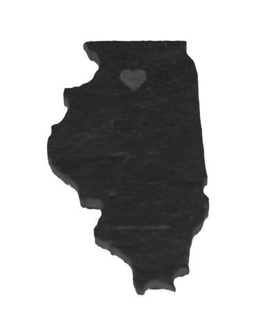 Illinois Slate Fridge Magnet