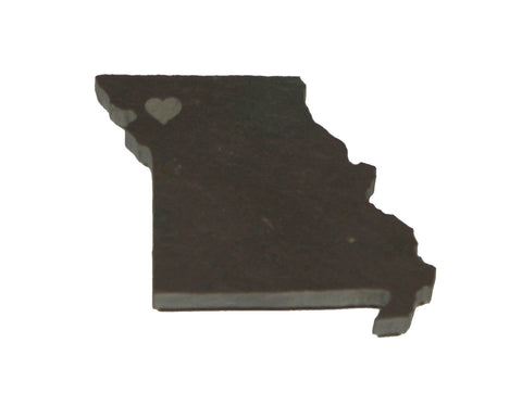 Missouri Slate Fridge Magnet- Personalized with Laser Engraving