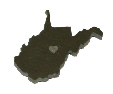 West Virginia Slate Fridge Magnet