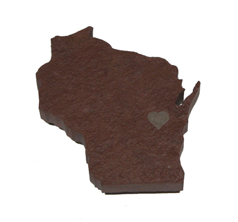 Wisconsin Slate Fridge Magnet- Personalized with Laser Engraving