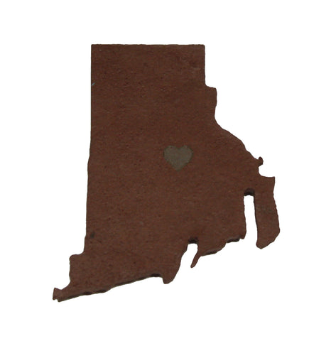 Rhode Island Slate Fridge Magnet- Personalized with Laser Engraving