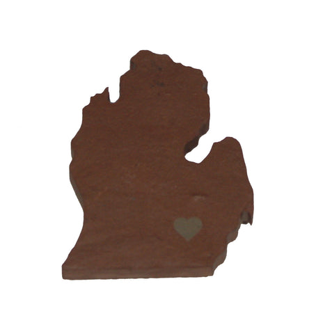 Michigan Slate Fridge Magnet- Personalized with Laser Engraving
