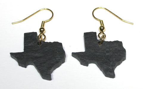 Texas Slate Earrings- Personalized with Laser Engraving