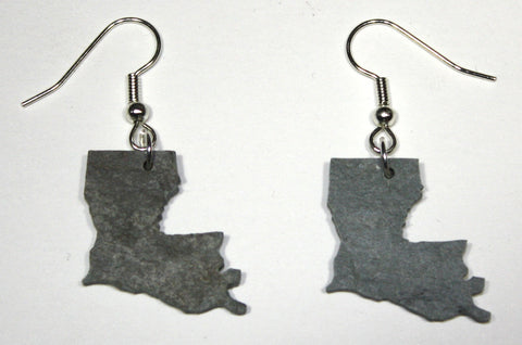 Louisiana Slate Earrings- Personalized with Laser Engraving
