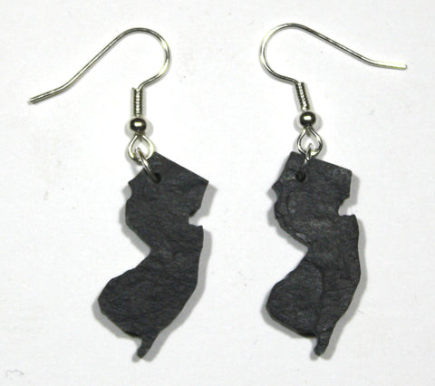 New Jersey Slate Earrings- Personalized with Laser Engraving
