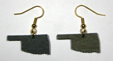 Oklahoma Slate Earrings- Personalized with Laser Engraving