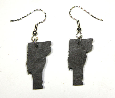 Vermont Slate Earrings- Personalized with Laser Engraving