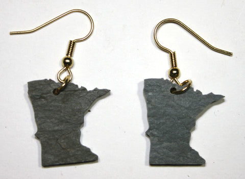 Minnesota Slate Earrings- Personalized with Laser Engraving