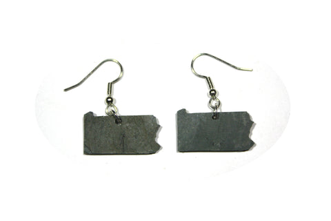 Pennsylvania Slate Earrings- Personalized with Laser Engraving