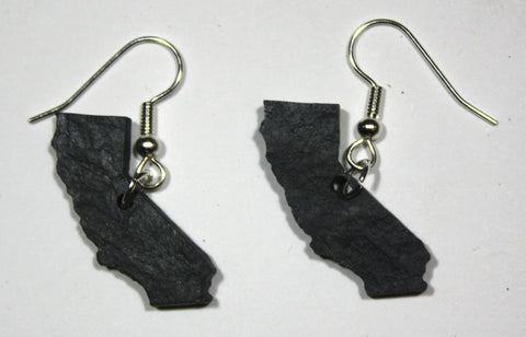 California Slate Earrings- Personalized with Laser Engraving