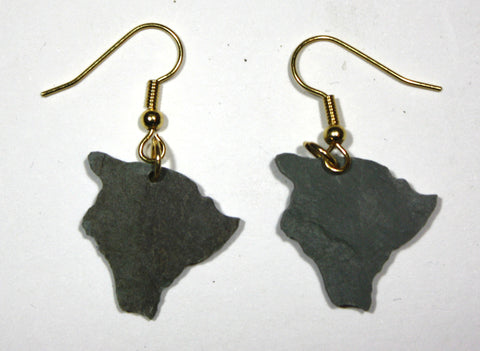 Hawaii Slate Earrings- Personalized with Laser Engraving