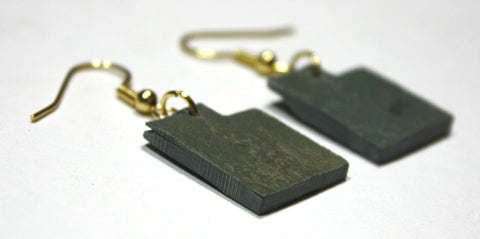 Utah Slate Earrings- Personalized with Laser Engraving
