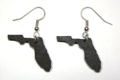 Florida Slate Earrings- Personalized with Laser Engraving