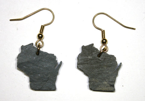 Wisconsin Slate Earrings- Personalized with Laser Engraving