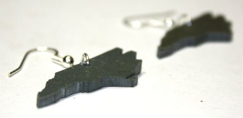 North Carolina Slate Earrings- Personalized with Laser Engraving