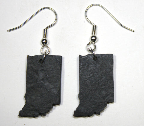 Indiana Slate Earrings- Personalized with Laser Engraving
