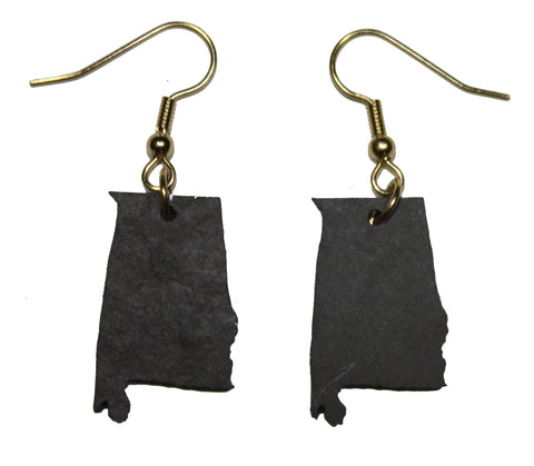 Alabama Slate Earrings- Personalized with Laser Engraving
