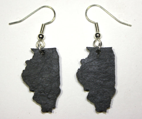 Illinois Slate Earrings- Personalized with Laser Engraving