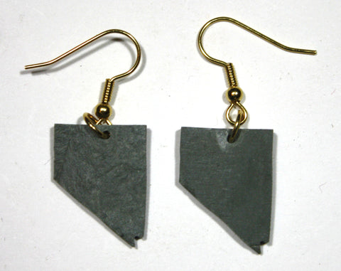 Nevada Slate Earrings- Personalized with Laser Engraving