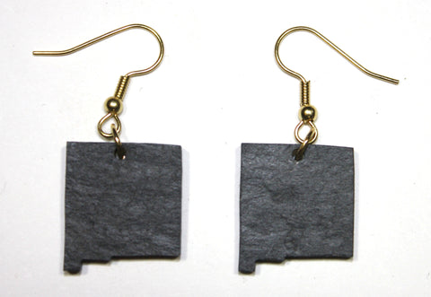 New Mexico Slate Earrings- Personalized with Laser Engraving
