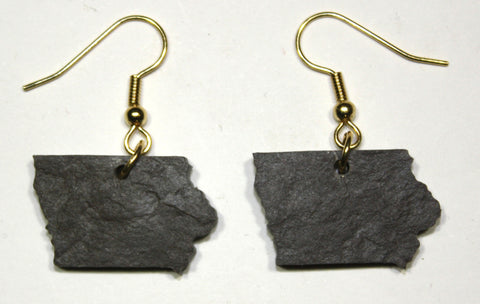 Iowa Slate Earrings- Personalized with Laser Engraving