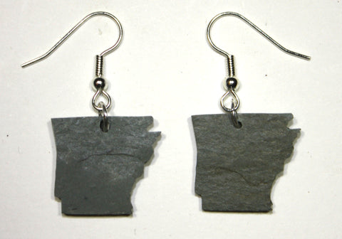 Arkansas Slate Earrings- Personalized with Laser Engraving