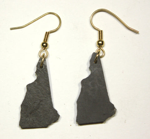New Hampshire Slate Earrings- Personalized with Laser Engraving