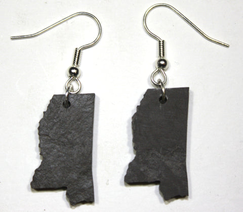 Mississippi Slate Earrings- Personalized with Laser Engraving