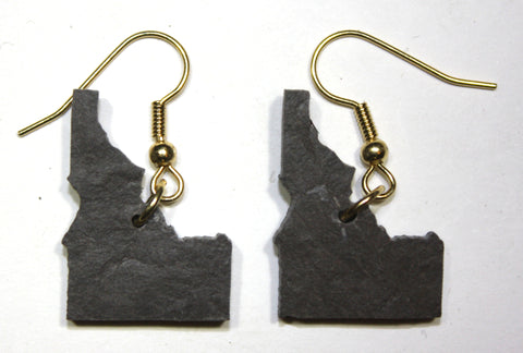 Idaho Slate Earrings- Personalized with Laser Engraving
