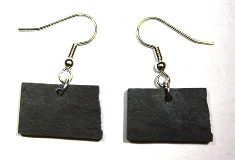 North Dakota Slate Earrings- Personalized with Laser Engraving