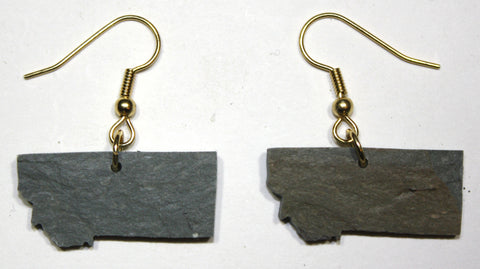 Montana Slate Earrings- Personalized with Laser Engraving