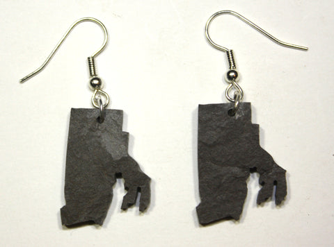 Rhode Island Slate Earrings- Personalized with Laser Engraving
