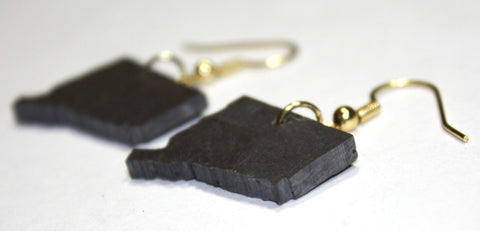 Connecticut Slate Earrings- Personalized with Laser Engraving