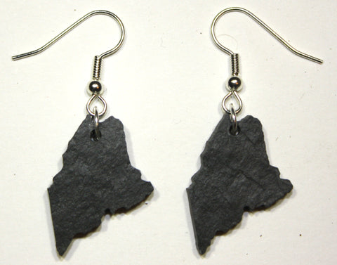 Maine Slate Earrings- Personalized with Laser Engraving