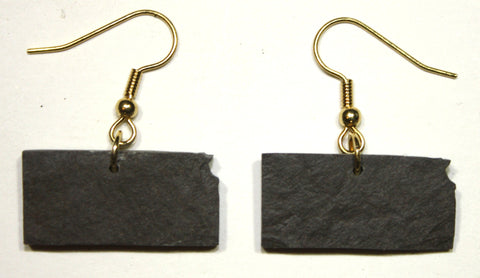 Kansas Slate Earrings- Personalized with Laser Engraving