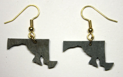 Maryland Slate Earrings- Personalized with Laser Engraving