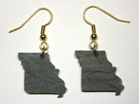 Missouri Slate Earrings- Personalized with Laser Engraving