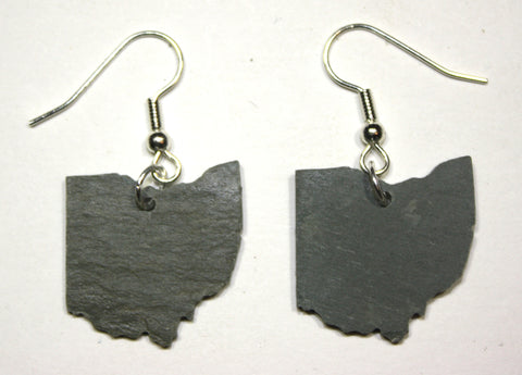 Ohio Black Slate Earrings