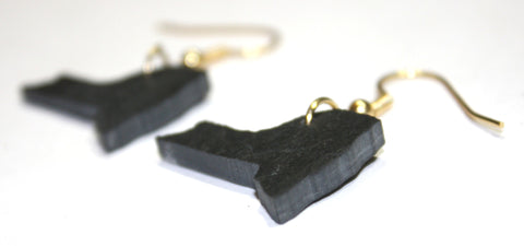 New York Slate Earrings- Personalized with Laser Engraving