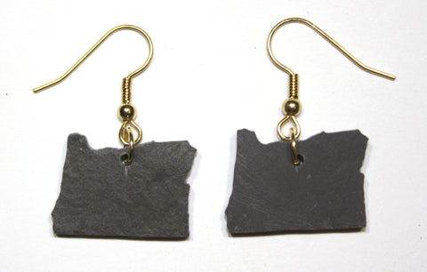 Oregon Slate Earrings- Personalized with Laser Engraving
