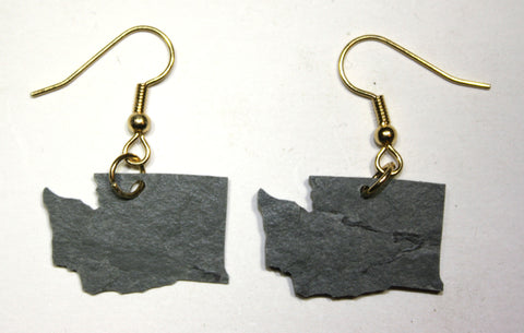 Washington Slate Earrings- Personalized with Laser Engraving