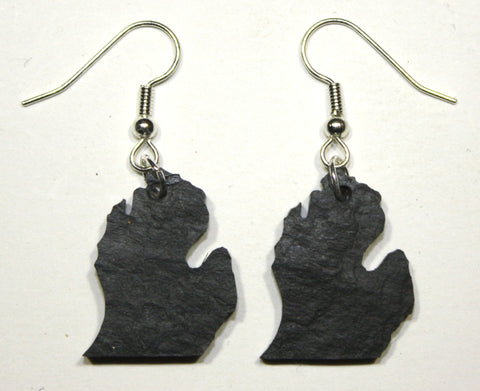 Michigan Slate Earrings- Personalized with Laser Engraving