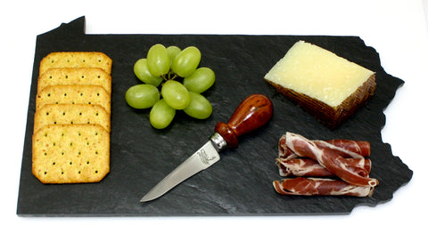 Pennsylvania Slate Cheese Board- Personalized with Laser Engraving